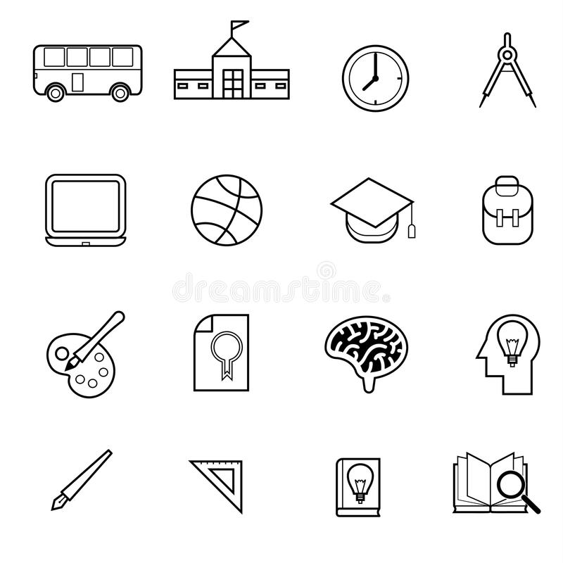 Education and graduation icon set vector illustration. Education and graduation related for use as infographic element royalty free illustration