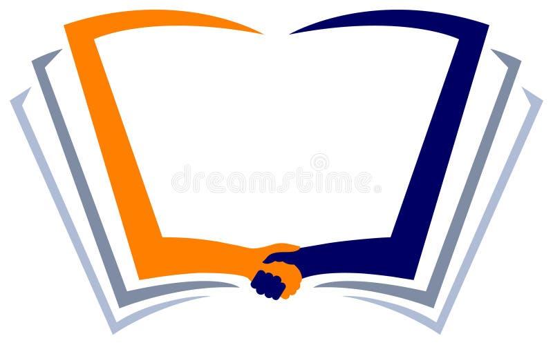 Education help. Isolated line art logo design
