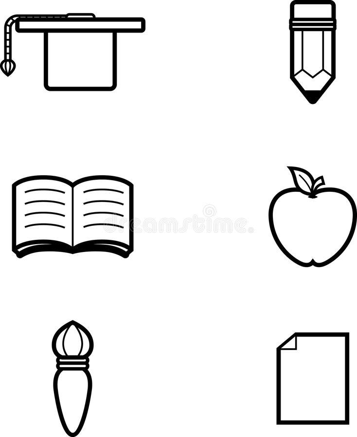 Education Icon Designs. Icon designs and illustrations with an education theme vector illustration