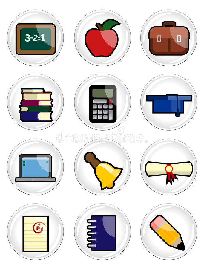 Download Education icon set stock vector. Image of illustration - 16148999