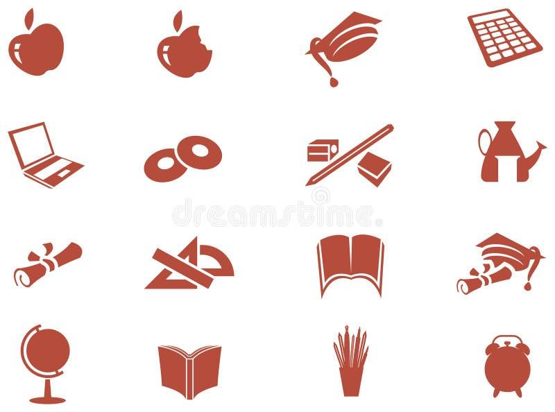 Education Icon Set. Illustrated isolated education Icon Set royalty free illustration