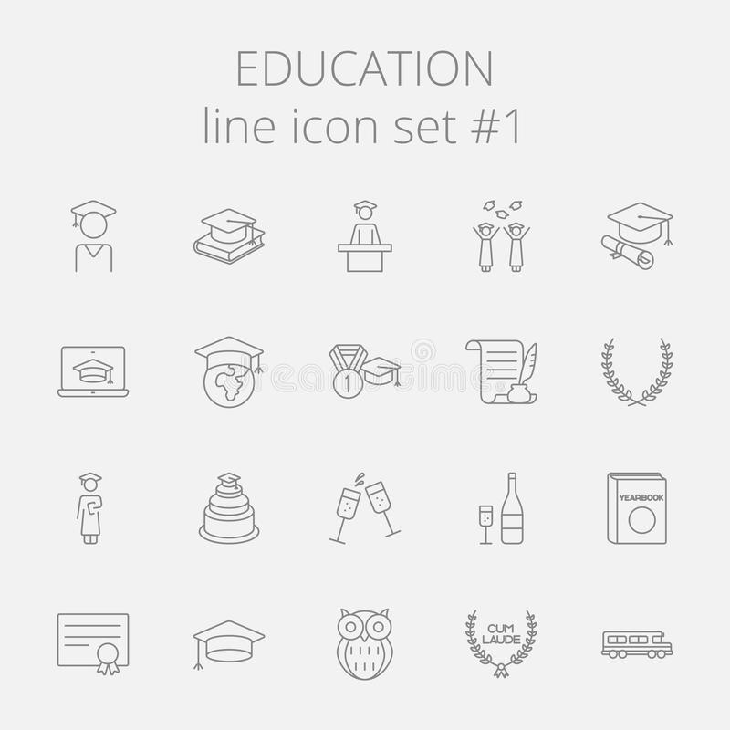 Education icon set vector illustration