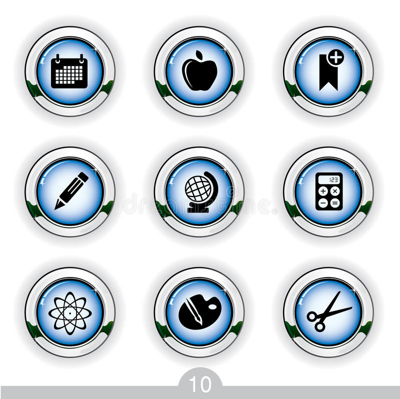 Download Education icons stock vector. Image of apple, illustration - 14137226