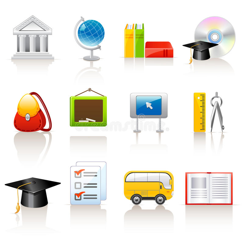 Download Education Icons Stock Photo - Image: 14554470