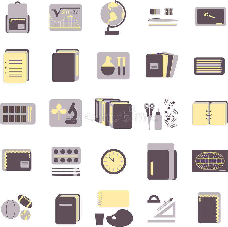 Download Education Icons Stock Photo - Image: 15149440