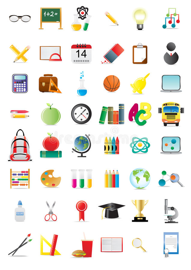 Education Icons Stock Image