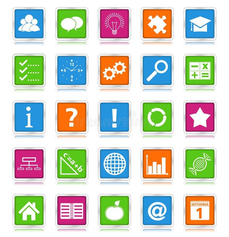 Education Icons stock illustration