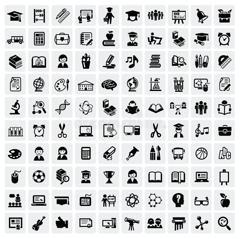 Free Education Icons Royalty Free Stock Photography - 28116397