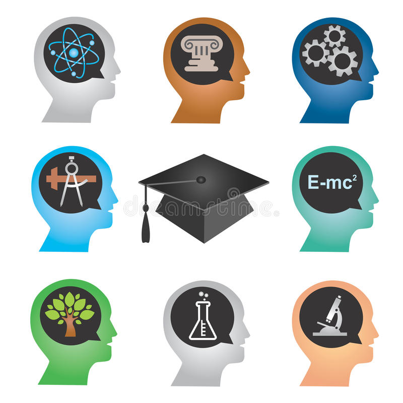 Download Education_icons stock vector. Image of graduation, icon - 29239367