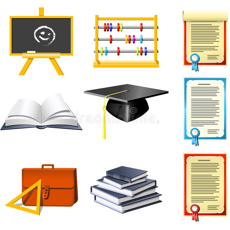 Download Education  icons stock vector. Image of sign, bachelor - 6153648