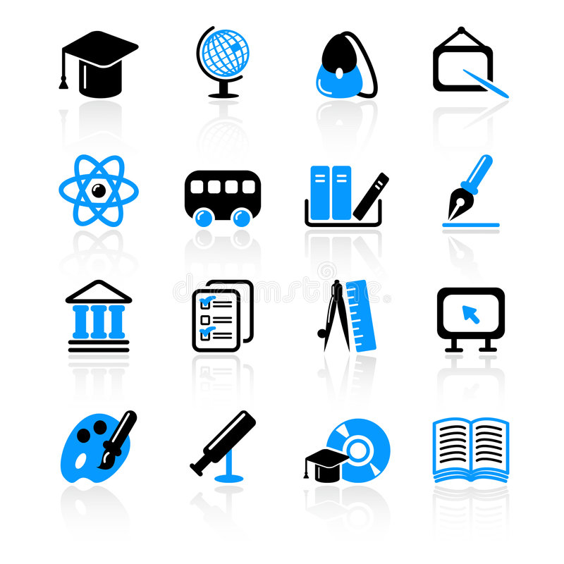 Download Education icons stock vector. Image of equipment, correspondence - 8690424