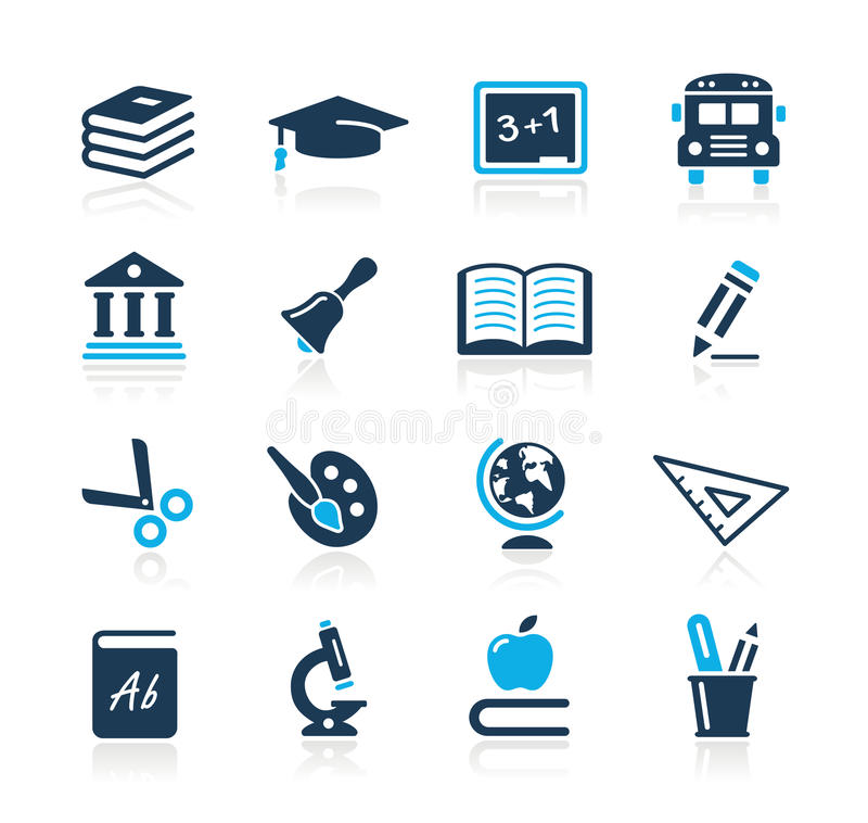 Download Education Icons  // Azure Series Stock Vector - Illustration of nwall, mathematics: 27105332