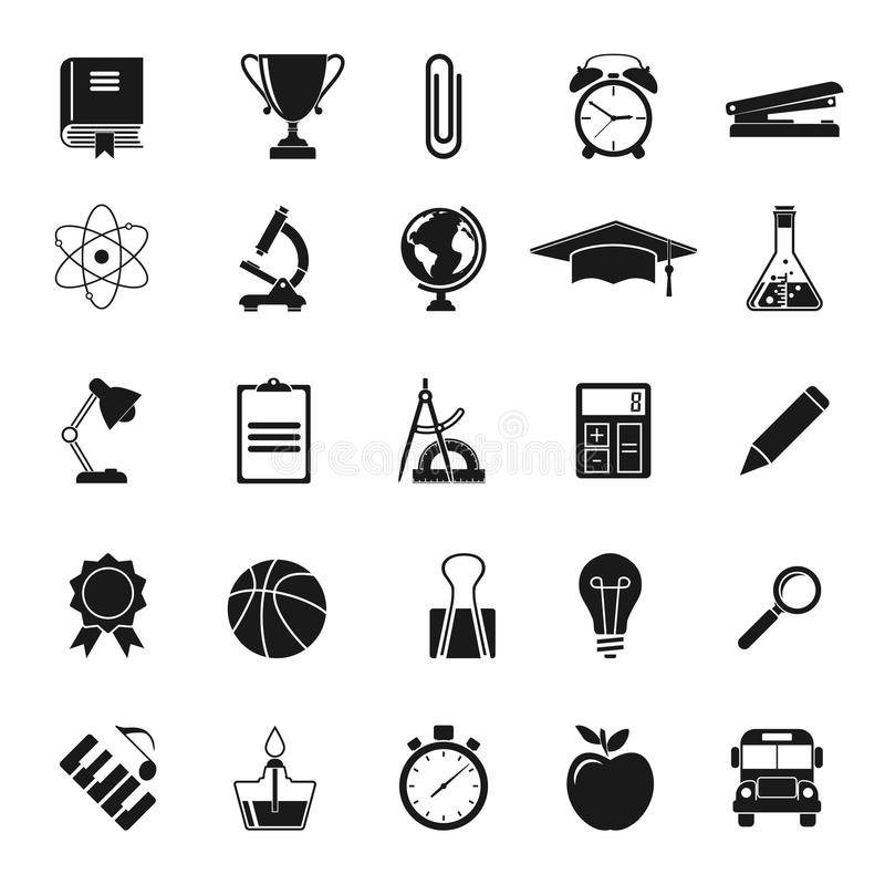 Education icons. Science royalty free illustration