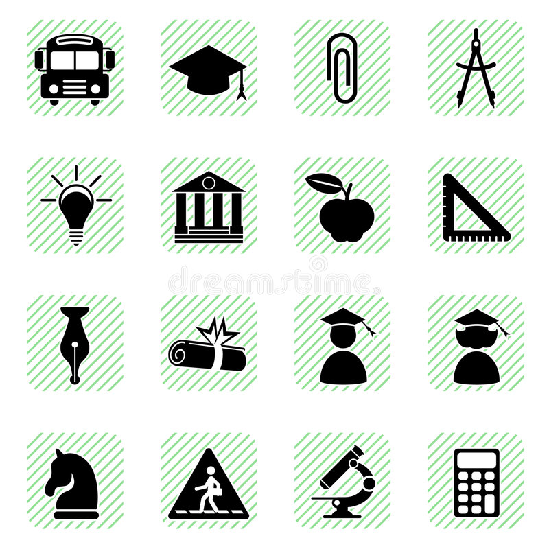 Download Education icons set stock vector. Image of graphic, chess - 8121670