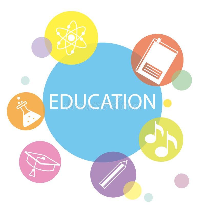Education icons set vector illustration