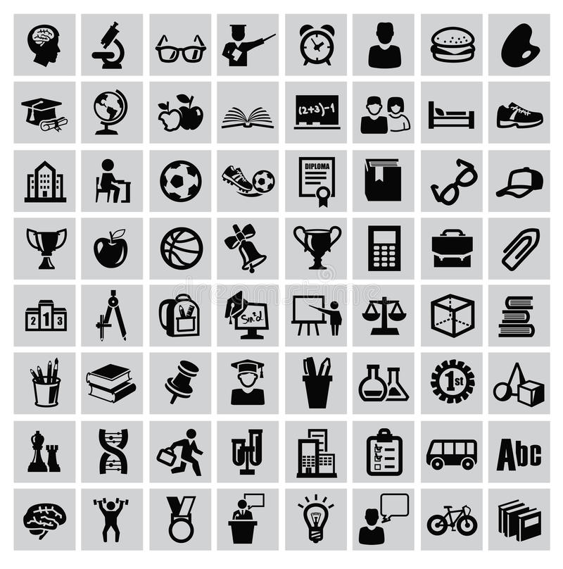 Education icons vector illustration