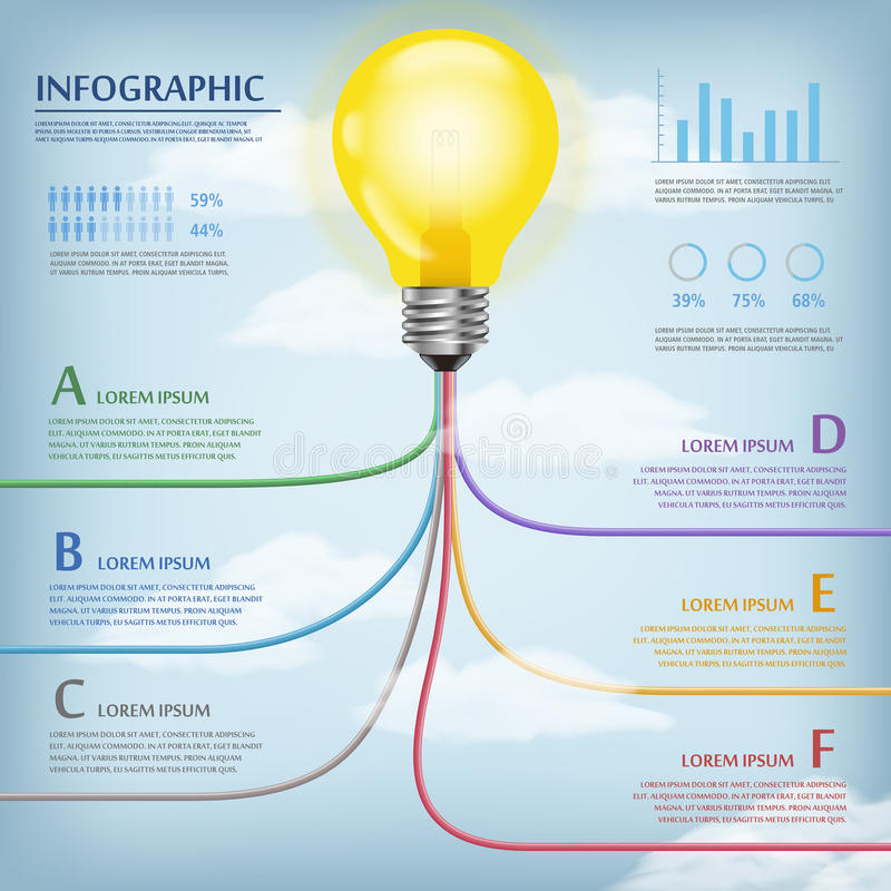 Education infographic template royalty free illustration