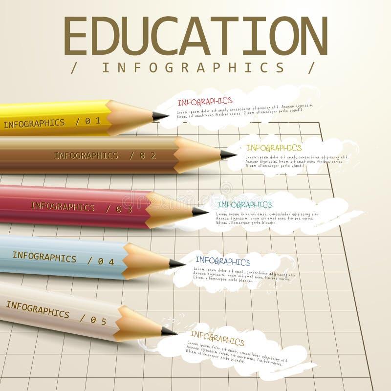 Education infographic template design vector illustration