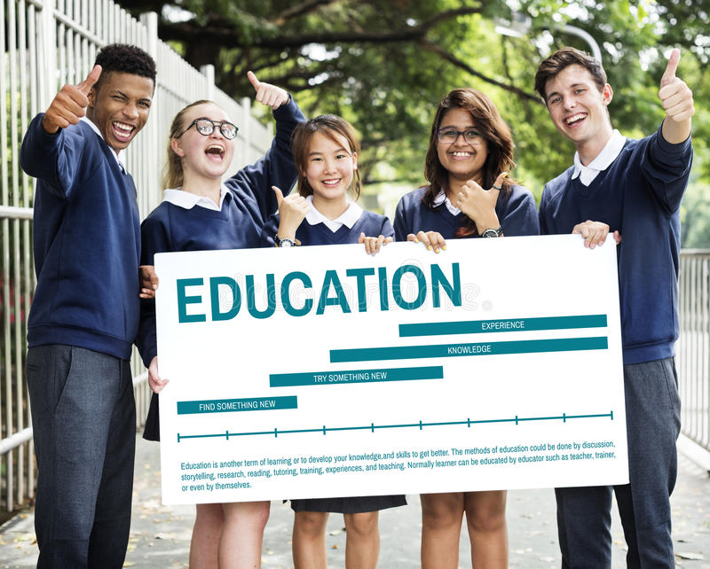 Education Knowledge Learning Experience Concept. Students Education Knowledge Learning Experience royalty free stock images