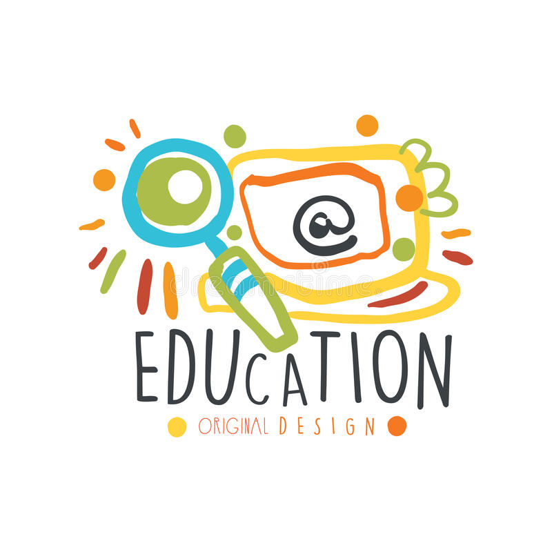 Education label original design, back to school logo graphic template colorful vector Illustration vector illustration