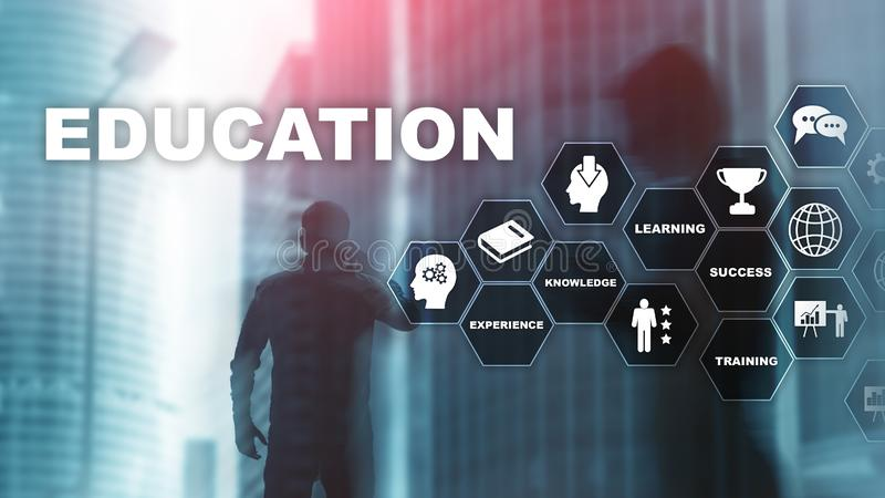 Education, Learning, Study Concept. Ð¡apacity development. Training personal development. Mixed media business. royalty free stock photo