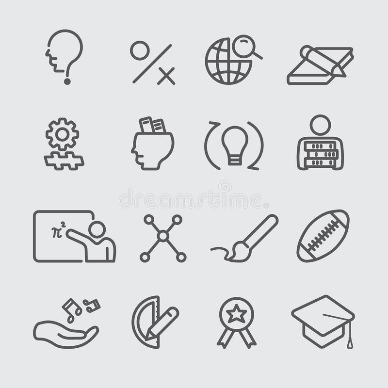 Education line icon. Education idea line icon set vector illustration