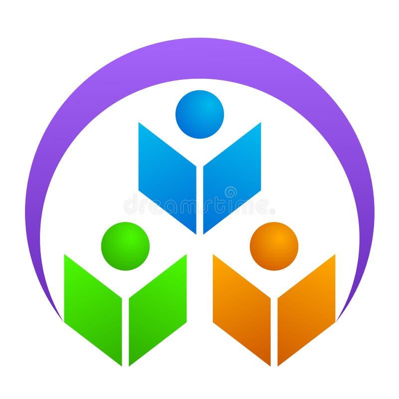 Education logo. Illustration of education logo design isolated on white background