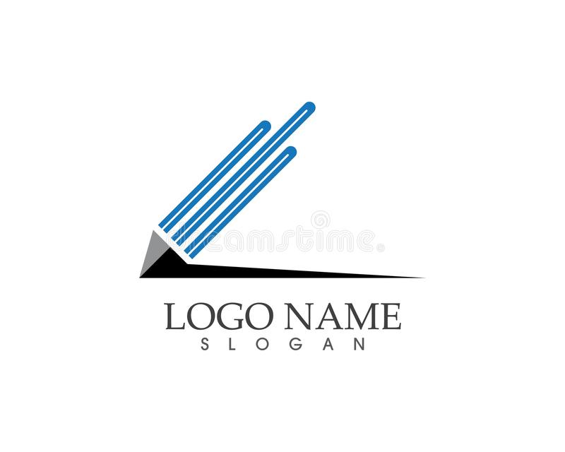 Education logo template vector icon royalty free illustration