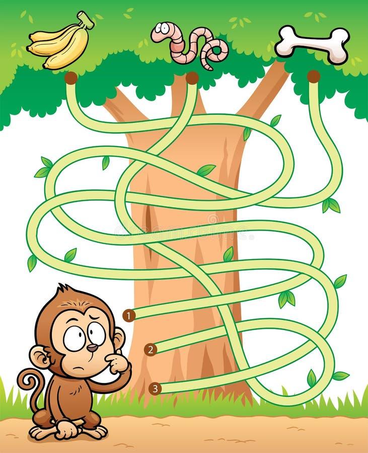 Education Maze Game stock illustration