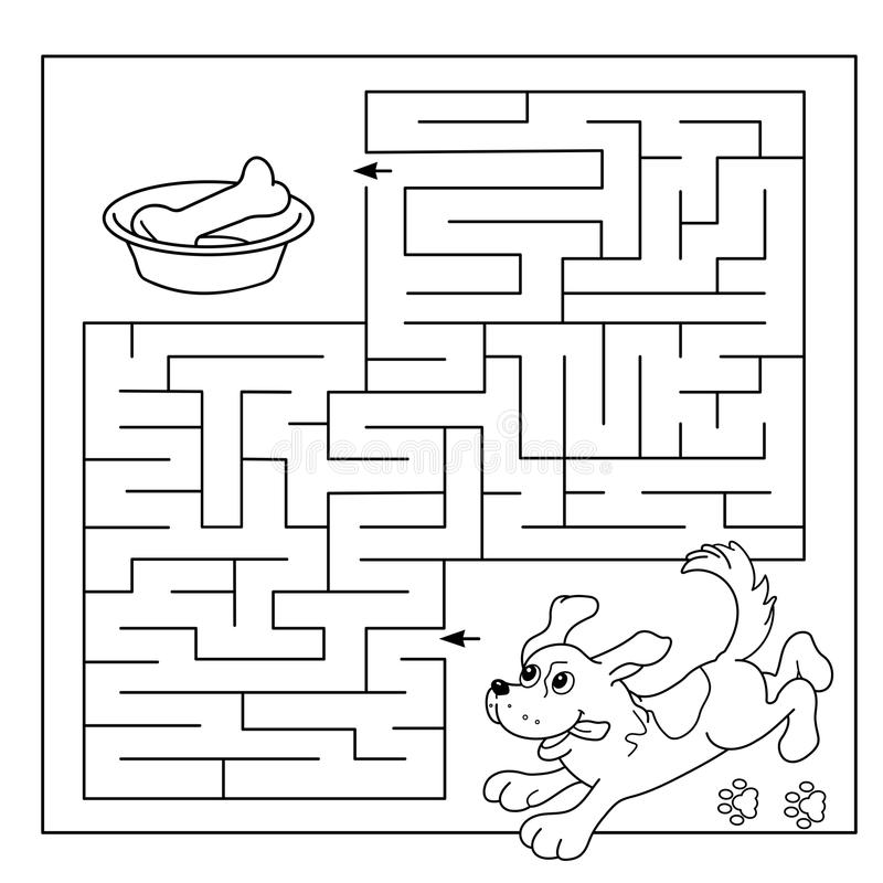 Download Education Maze Or Labyrinth Game For Preschool Children Puzzle Coloring Page Outline Of