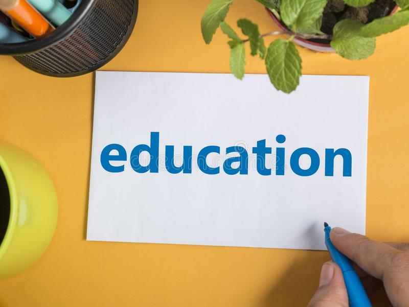 Education, Motivational Words Quotes Concept stock photo