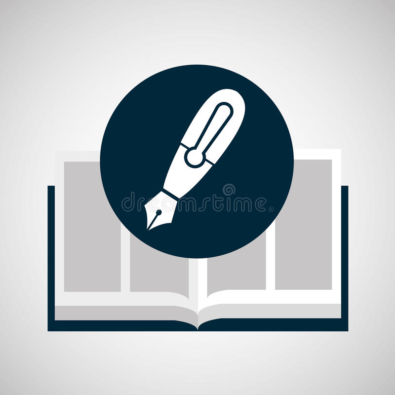 Education opened book pen writing. Vector illustration eps 10 vector illustration