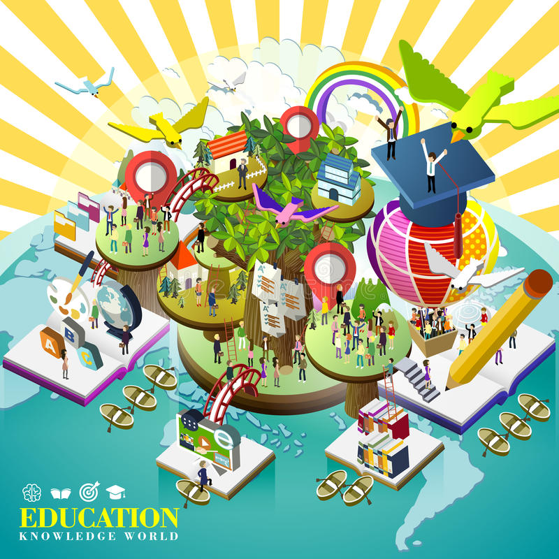 Education over world concept royalty free illustration