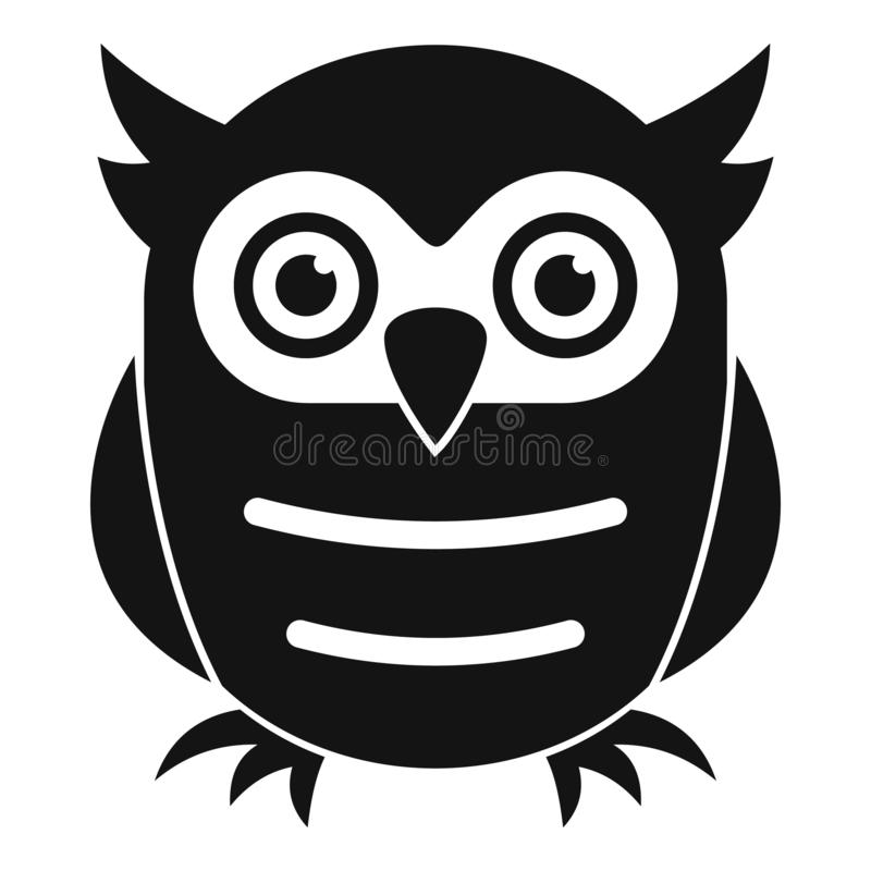 Education owl icon, simple style royalty free illustration