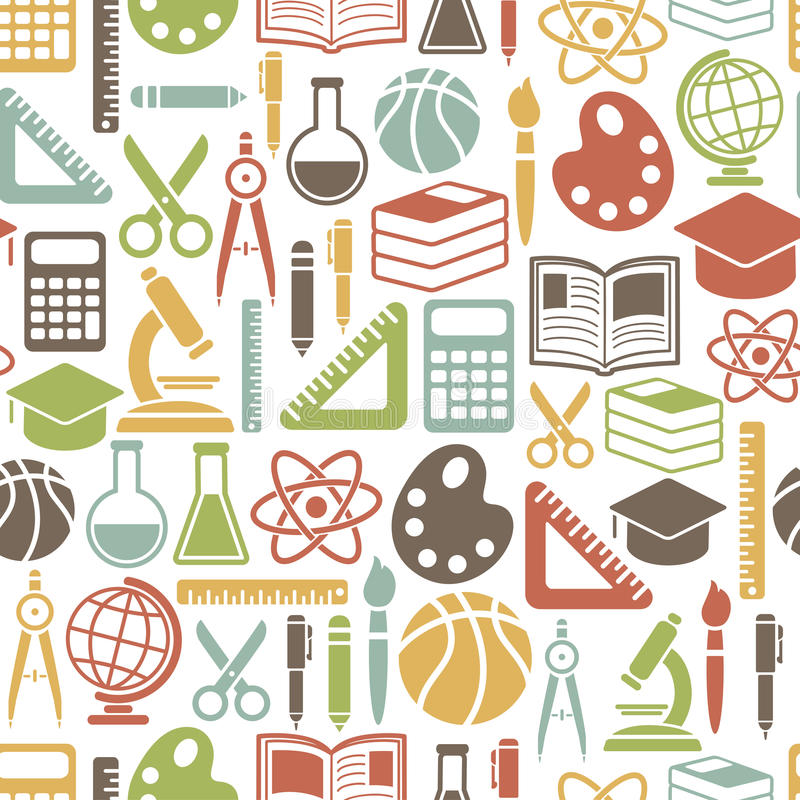Education pattern stock illustration