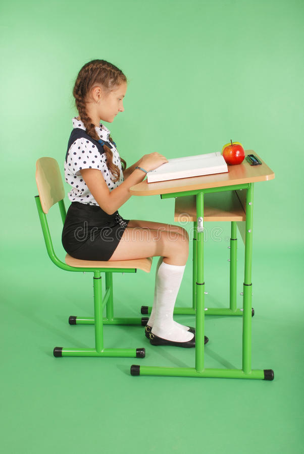 Education, people, children and school concept - young school girl stock photos