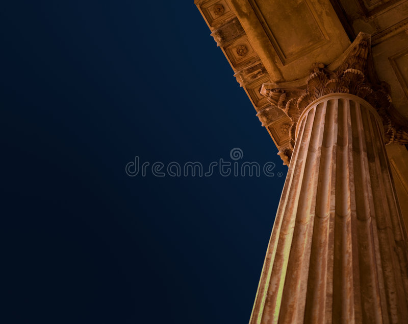 Education pillars stock image