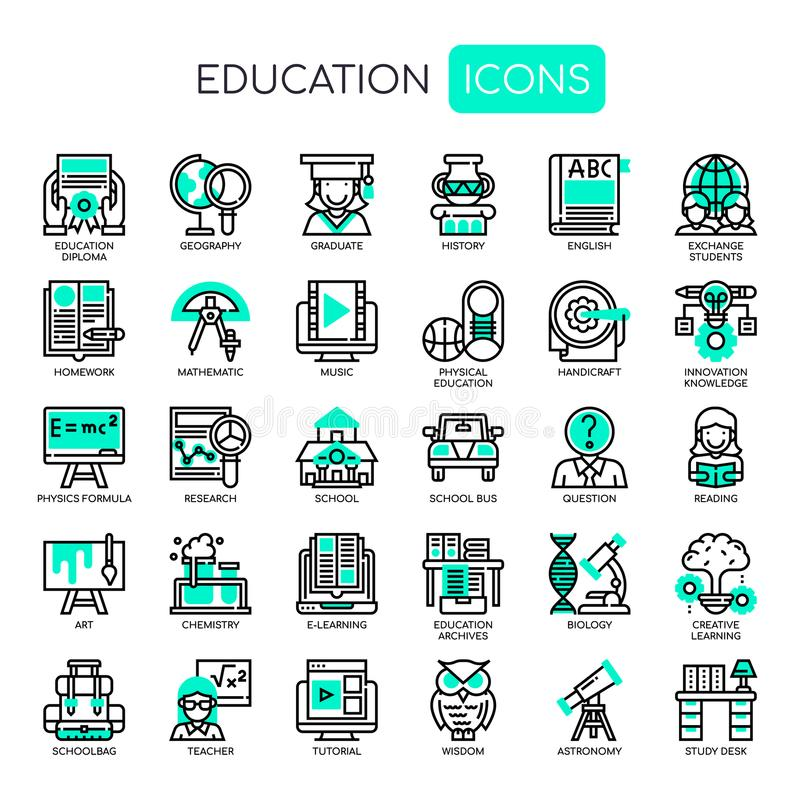 Education , Pixel Perfect Icons stock illustration