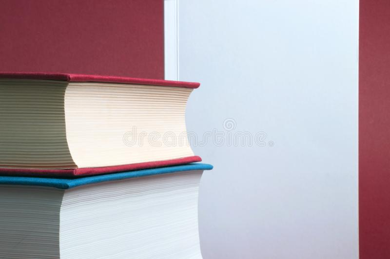 Education and writing concept. Everybody can read or write a book and be the author stock photography