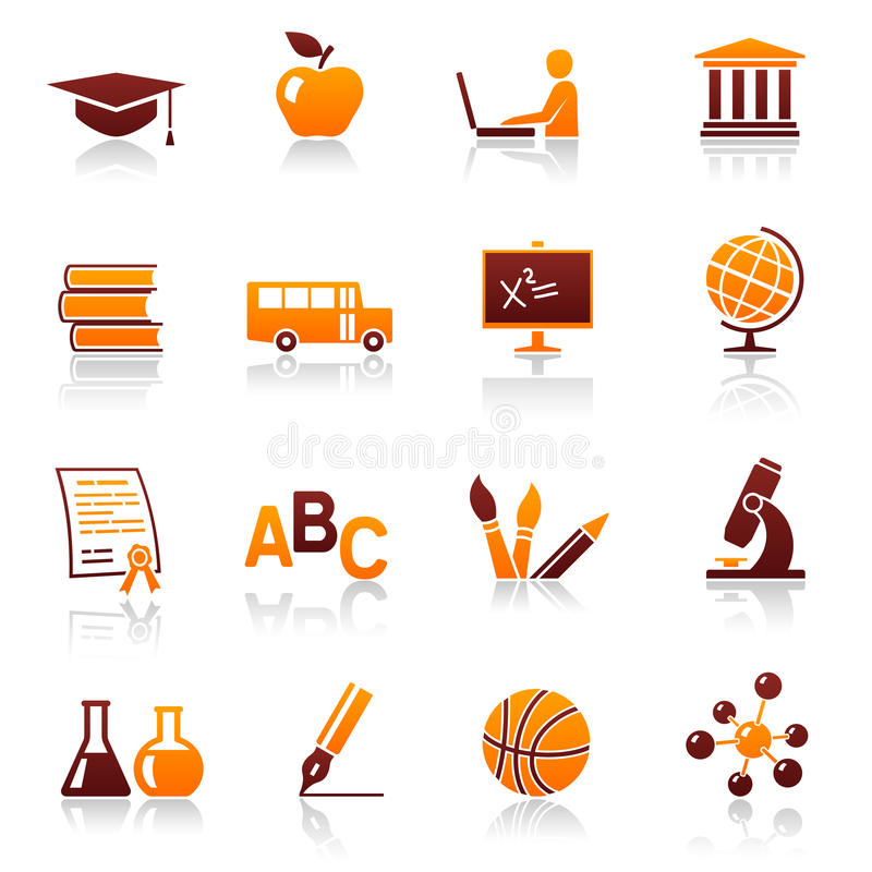 Download Education and school icons stock vector. Illustration of blackboard - 17021848