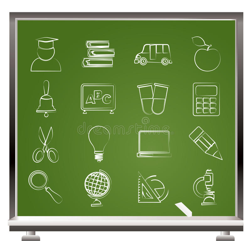 Education and school icons stock illustration