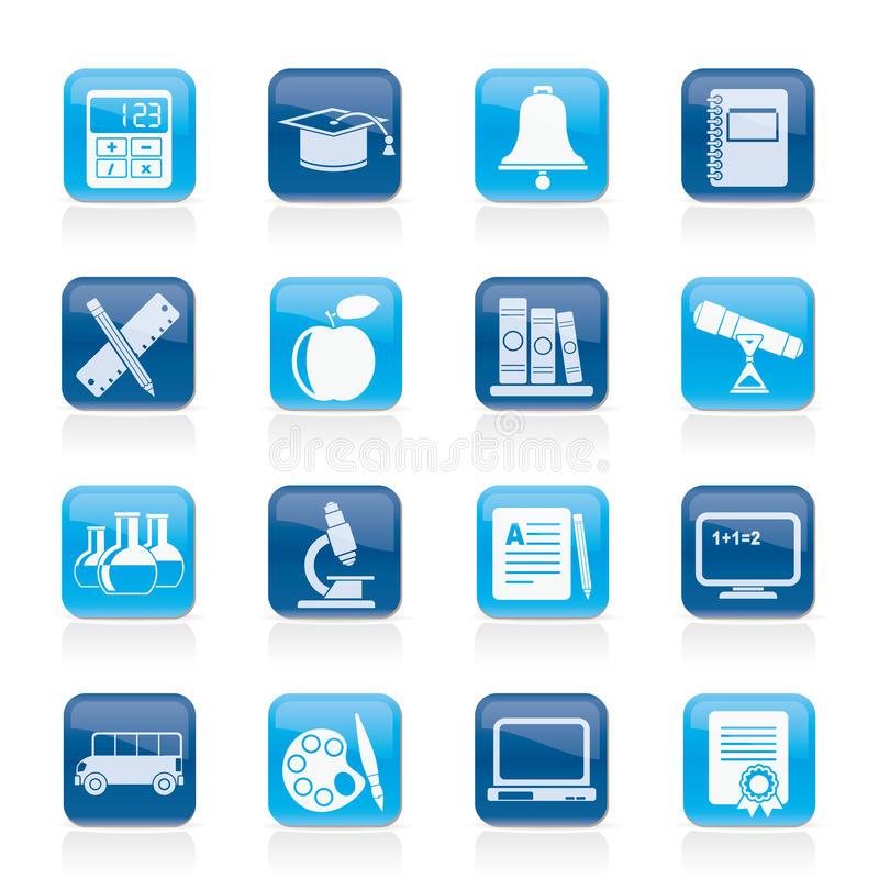 Download Education And School Objects Icons Stock Vector - Illustration: 27935747