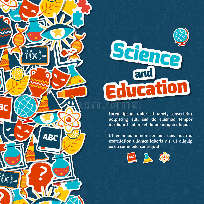 Education science background royalty free illustration