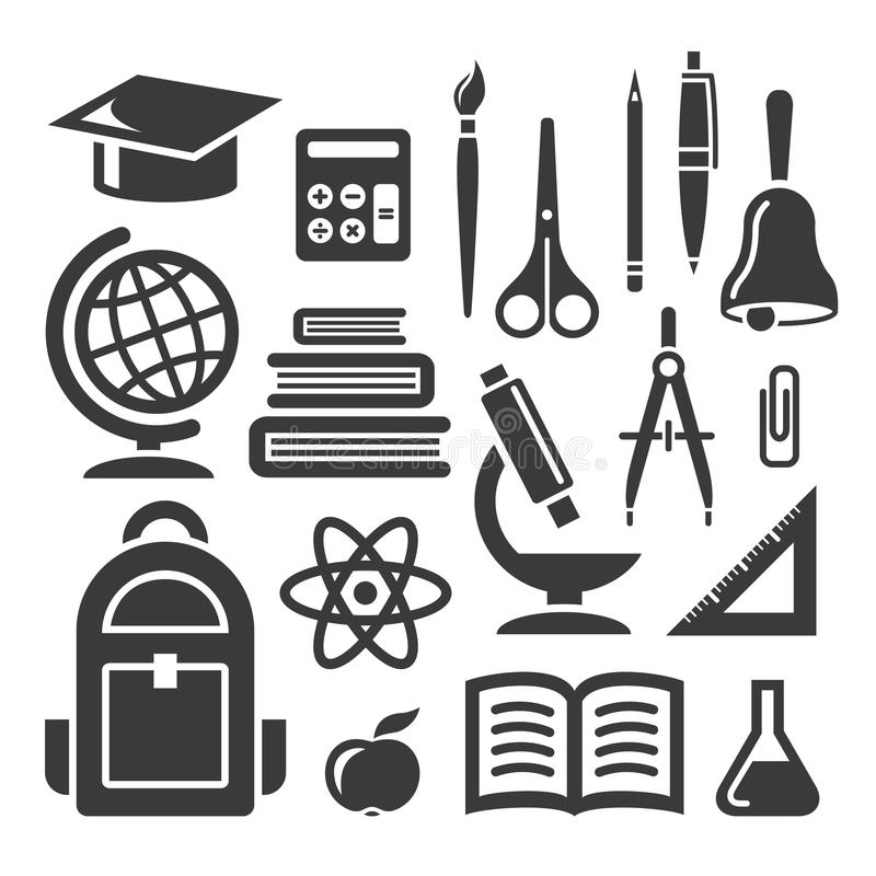 Education And Science Symbols Stock Vector Illustration Of Icons