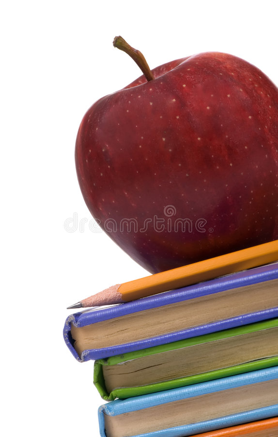 Free Education Series (Apple On Books Angle) Royalty Free Stock Images - 1914549