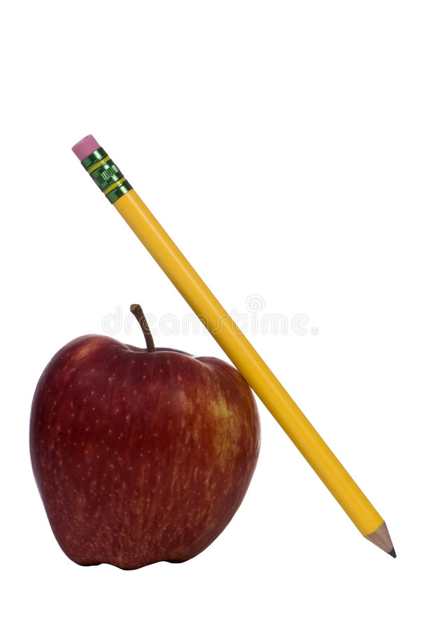 Education Series (apple and pencil) stock photo