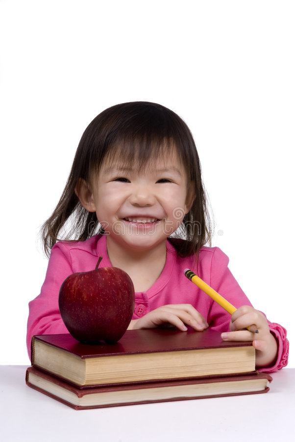 Education Series (smiling with books) royalty free stock photography