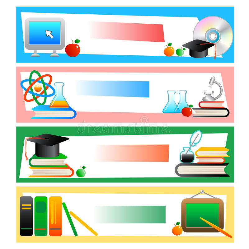 Download Education - set of banners stock vector. Image of training - 9931363