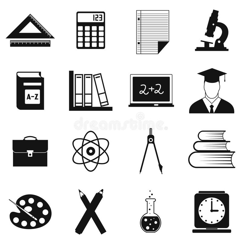 Education simple icons vector illustration