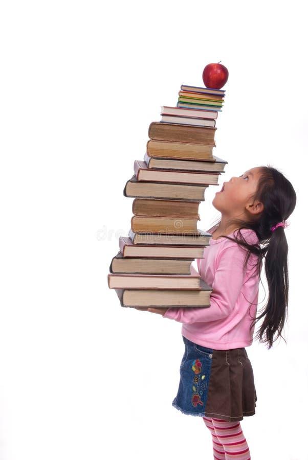Education (sky high books) royalty free stock photo